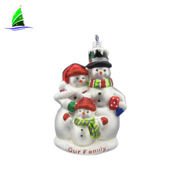 Home decoration hanging glass snowman ornament