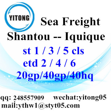 Shantou Shipping Forwarder sea freight to Iquique