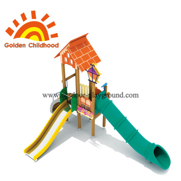 Combine Playhouse Roof Playground Equipment For Children