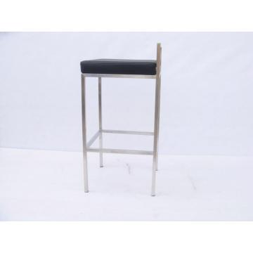 Good Quality for Best Full Leather Bar Chair,Leather Kitchen Bar High Chair Manufacturer in China leather bar chair in stainless steel supply to Spain Exporter