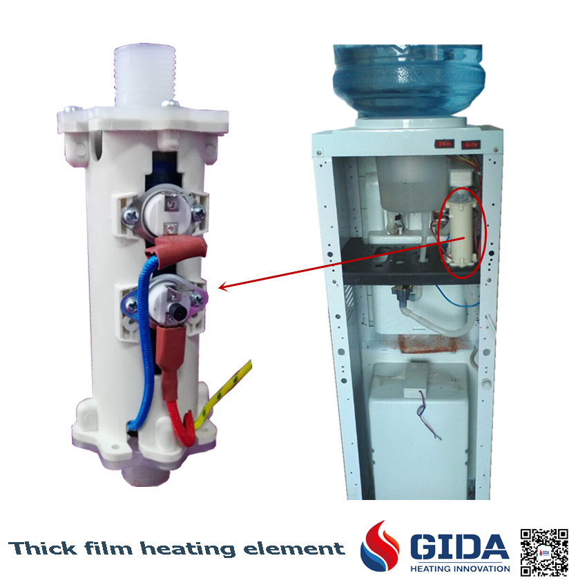 heating element for water dispensers