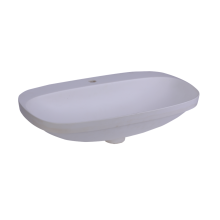 White Modern Design Embedded Wash Basins