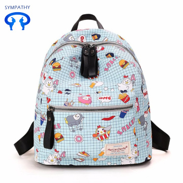 Custom printed backpack with two shoulders