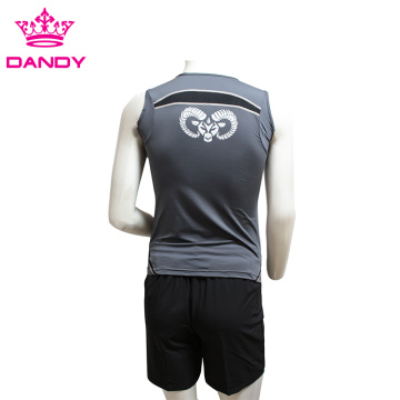 Cut And Sewn Mens Running Singlet