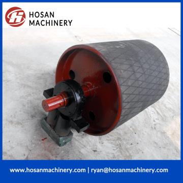 Conveyor Diamond Rubber Covered Pulley