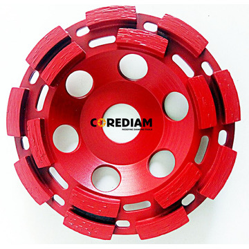 Factory source manufacturing for Double Row Abrasive Cup Wheel 115mm Double Row Cup Wheel export to British Indian Ocean Territory Manufacturer