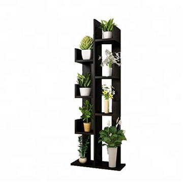 Wooden flower stand rack shelf holder