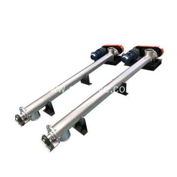 food industry salt screw auger conveyor with hopper