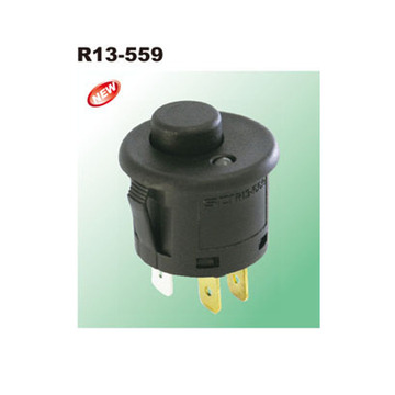 Black 250VAC LED Illuminated Push Button Switches