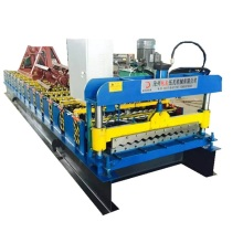 Corrugated single layer metal tile roll forming machine