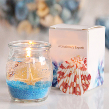 Scented Oceanscape Seashell Jelly Gel Candle
