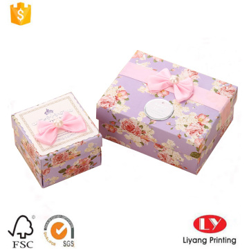 Custom paper gift packaging box with lid