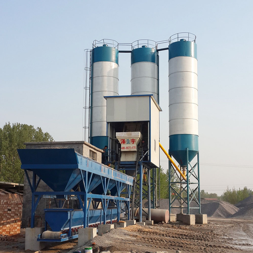 Ready mixed HZS50 concrete batching plant machine 50m³