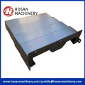 Accordion guide protection for machine with stainless steel