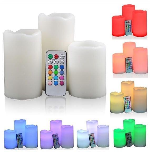 led tall pillar candles