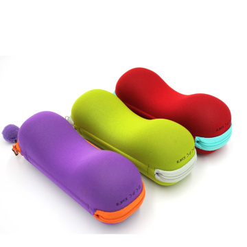 Soft child eva colorful eyeglasses case with logo
