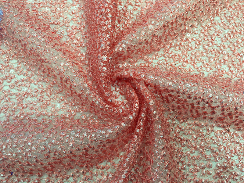 Embroidery Fabric With Foil