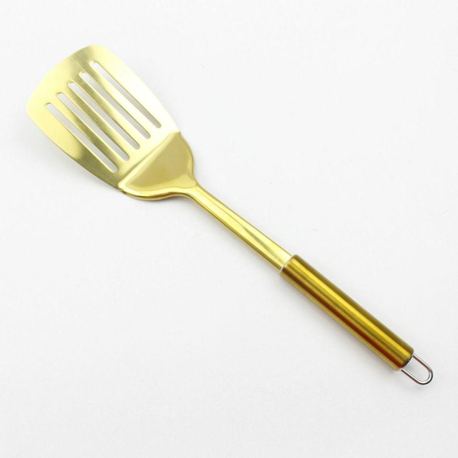 Gold Plated Stainless Steel Slotted Spatula