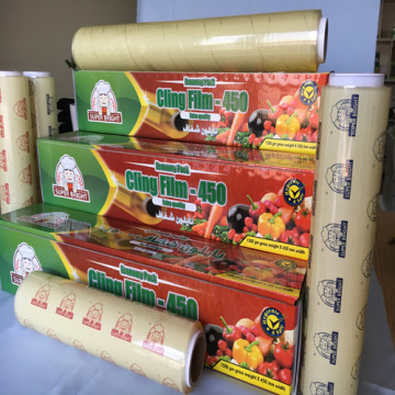 Super Bright Quality PVC Plastic Wrap Film