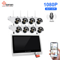 "8CH 1080P Wireless Security Camera 12.5"" LCD Monitor"