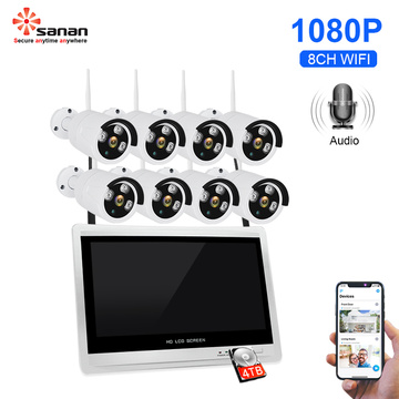 WiFi CCTV Camera Security System With LCD Monitor