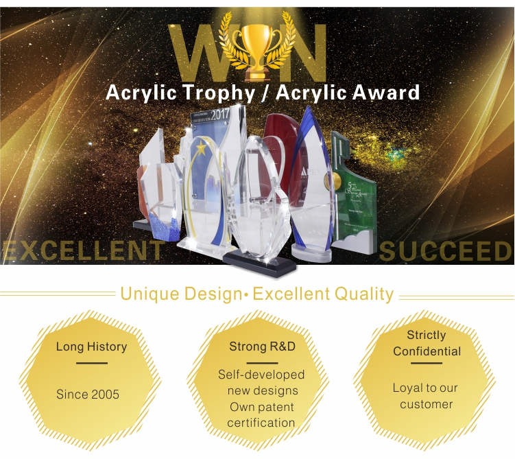 Acrylic trophy case custom trophy base acrylic trophy manufacturers