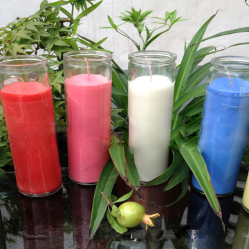 paraffin wax 7 days religious jar candles