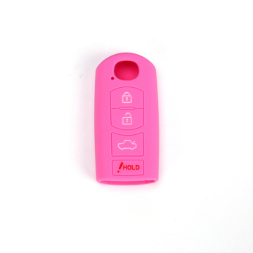Mazda 4 buttons silicon car key case
