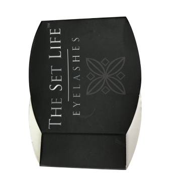 Black Laminated Acrylic Case Eyelash Paper Box