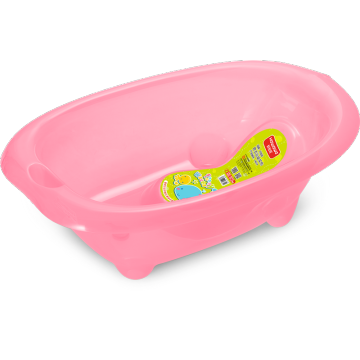 Transparent Plastic Baby Bathtub With Bath Support