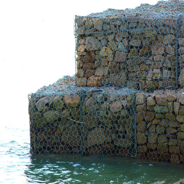 hexagonal highly galvanized woven gabion boxes