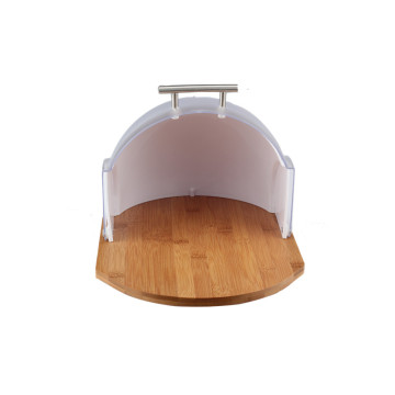 Wooden Base Bread Bin