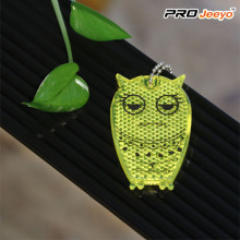 Reflective Hi Vis Safety Owl Children Keychain