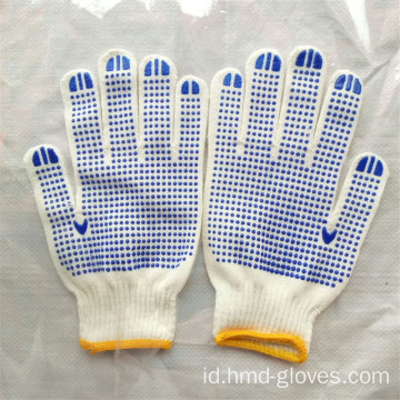 Sisi Ganda PVC Dots Garden Cotton Gloves