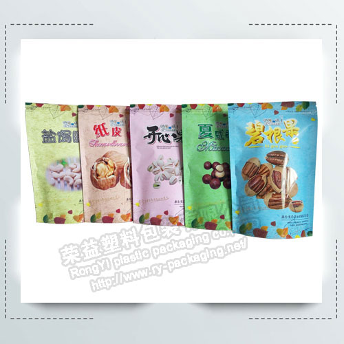 Stand up Ziplock Dried Nuts Packaging Bags/Pouches