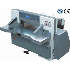 Digital single hydraulic single worm wheel paper cutting machine