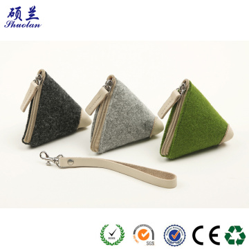 Top quality newest design felt coin purse bag