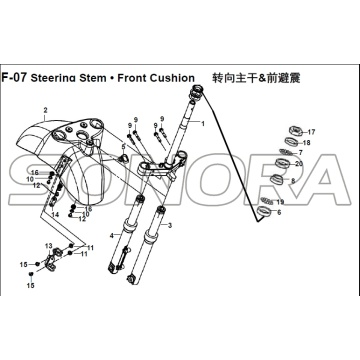 F-07 Steering Stem Front Cushion for XS125T-16A Fiddle III Spare Part Top Quality