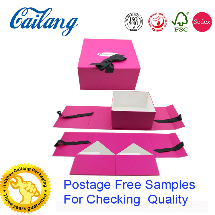 Side Folding Clothing Paper Gift Box