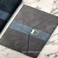 Marble thermo embossed pu leather for notebook label