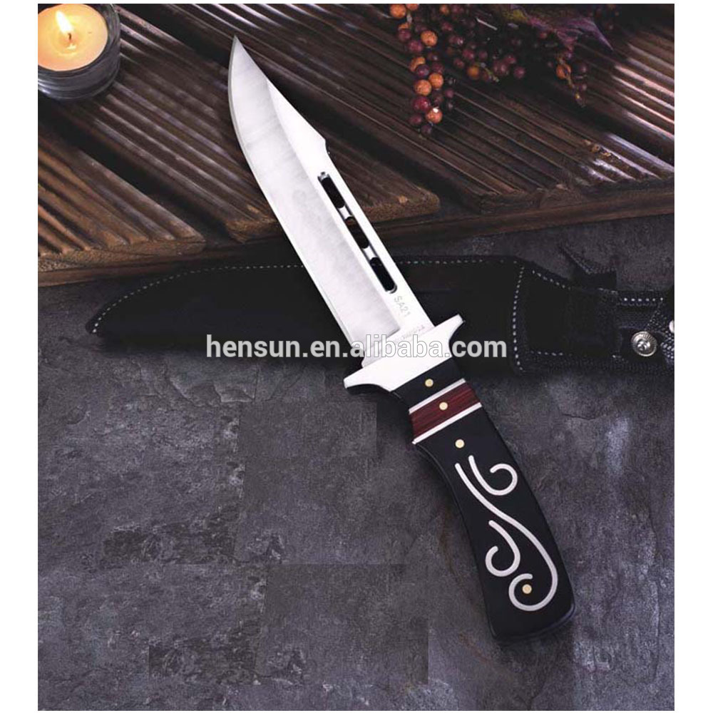 Hot Selling Plastic Handle Bowie Military Knife