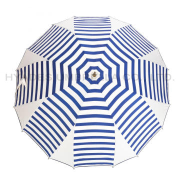 Unique Navy Stripes Manual Open Straight Umbrella