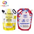 Wholesale Custom Liquid Plastic Pouch Bag And Handle
