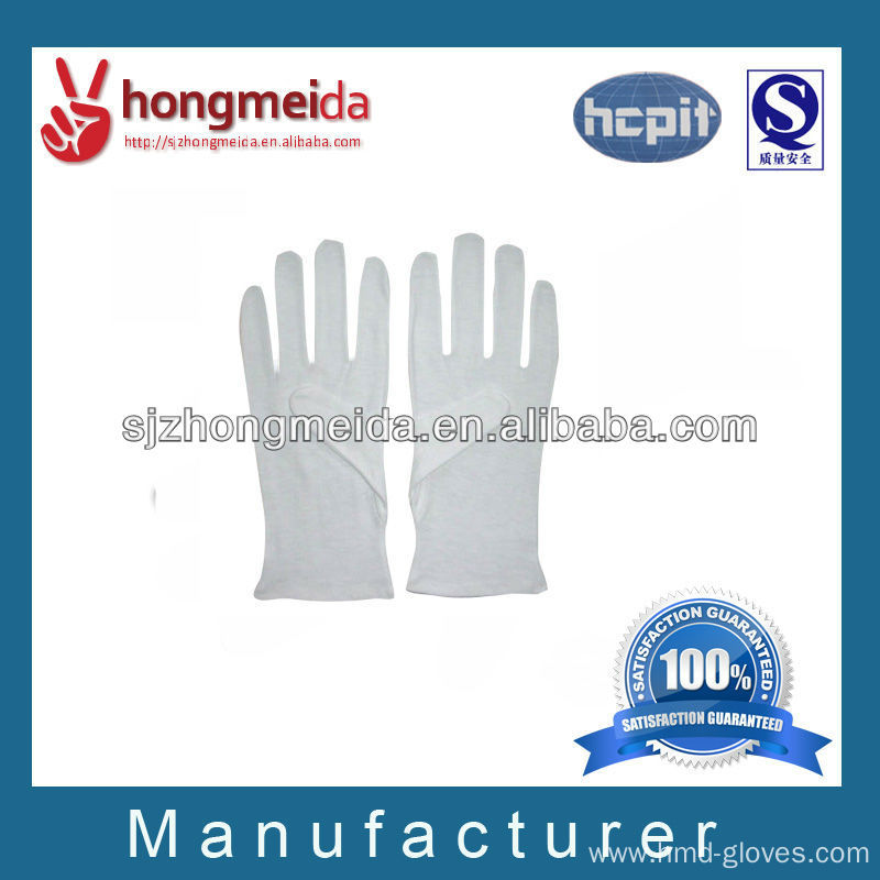 military white cotton parade gloves