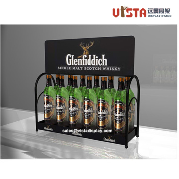 Liquor Store Metal Countertop Display Stand