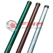 PVC Coated Galvanized Metal Round Post for Fence