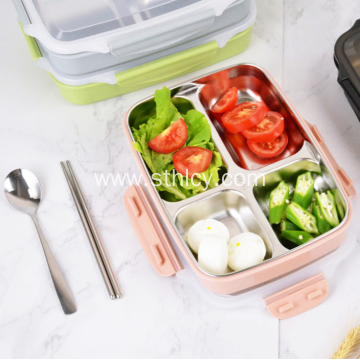 Hot Sale Four Grids Stainless Steel Lunch Box