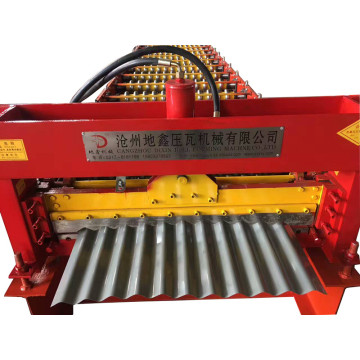 Corrugated sheet metal roof making machine