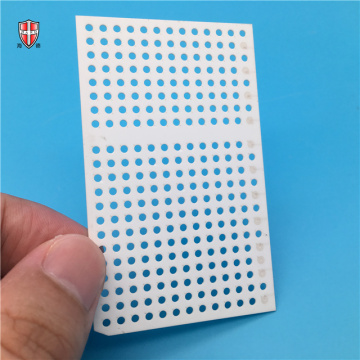 laser cutting 96% alumina ceramic cooling fin substrate