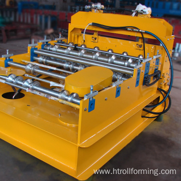 Hydraulic metal sheet arching roof roll forming machine